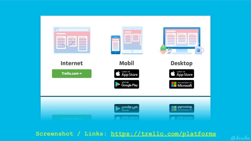 Screenshot / Links: https://trello.com/platforms
