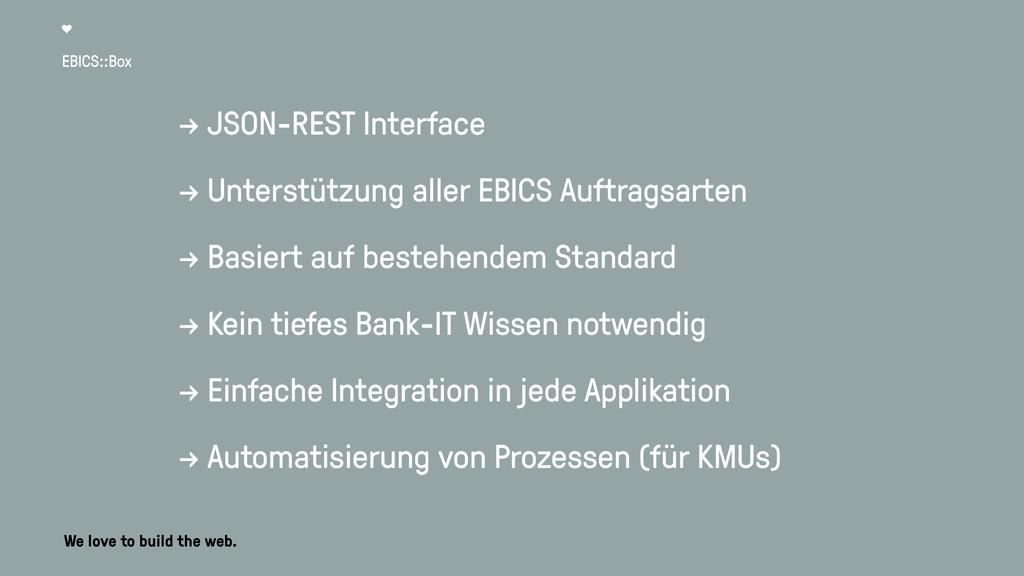 EBICS::Box → JSON-REST Interface → Unterstützun...