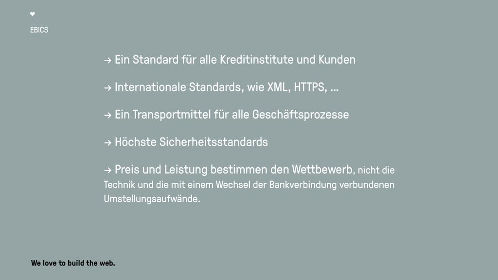 EBICS → Ein Standard für alle Kreditinstitute u...