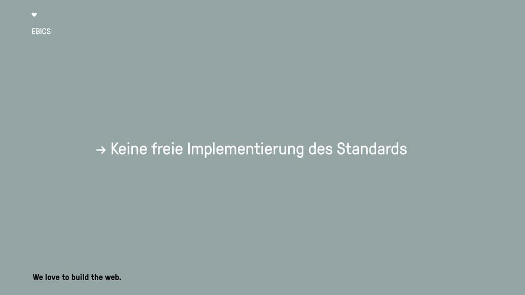 EBICS → Keine freie Implementierung des Standar...