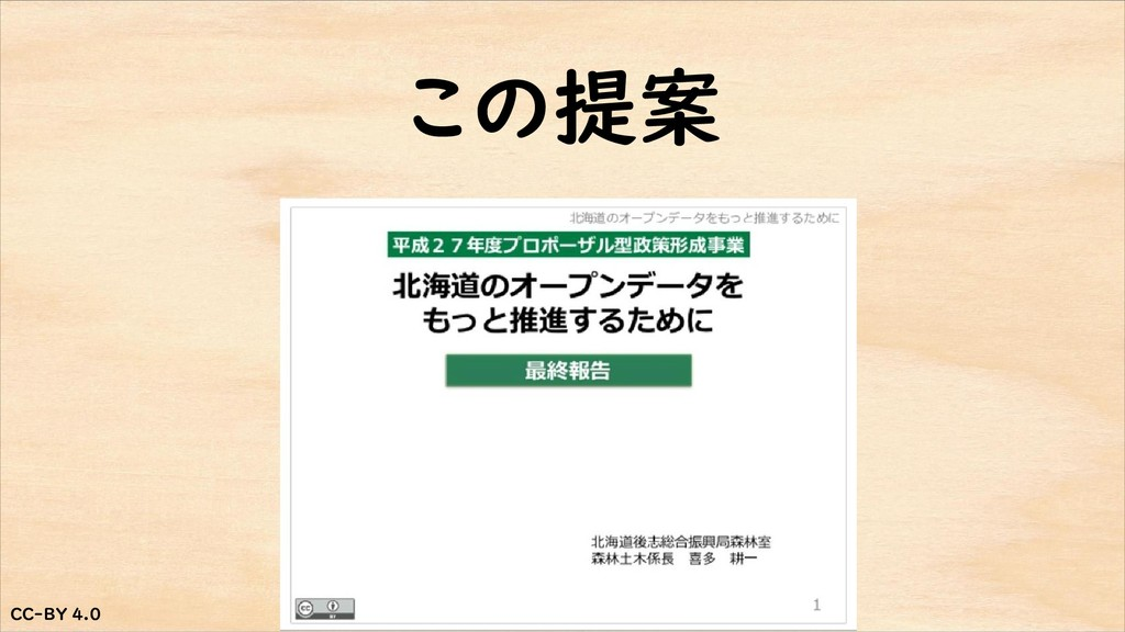 CC-BY 4.0 CC-BY 4.0 この提案
