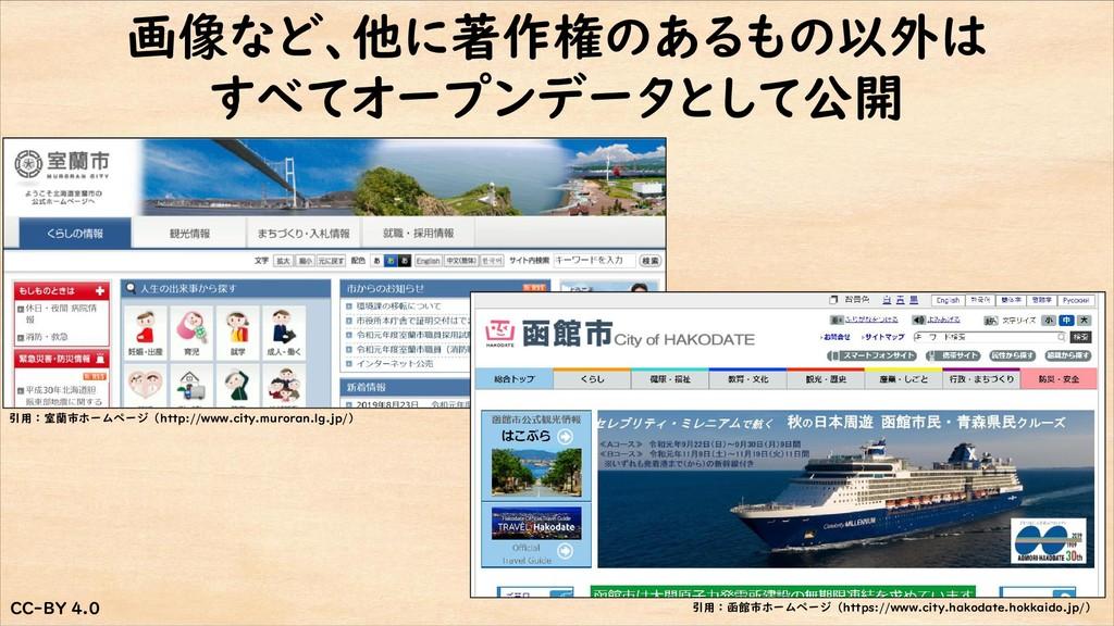 CC-BY 4.0 CC-BY 4.0 画像など、他に著作権のあるもの以外は すべてオープンデ...