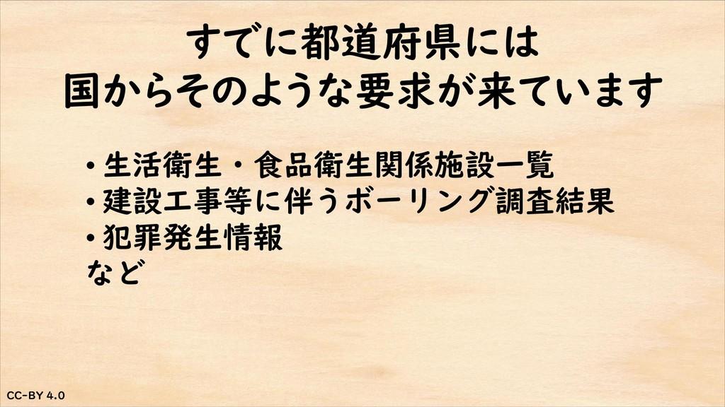 CC-BY 4.0 CC-BY 4.0 すでに都道府県には 国からそのような要求が来ています ...