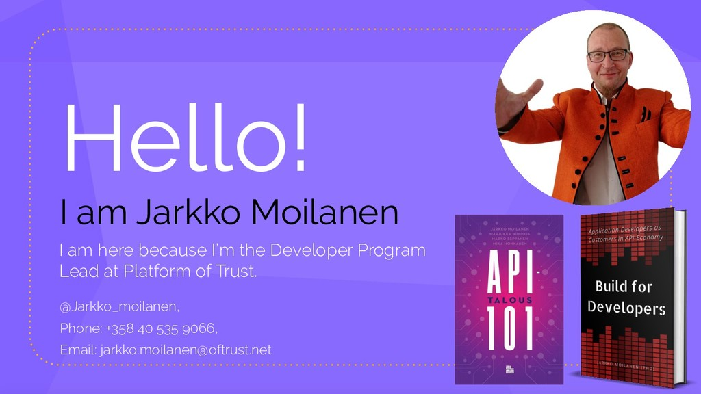 Hello! I am Jarkko Moilanen I am here because I...