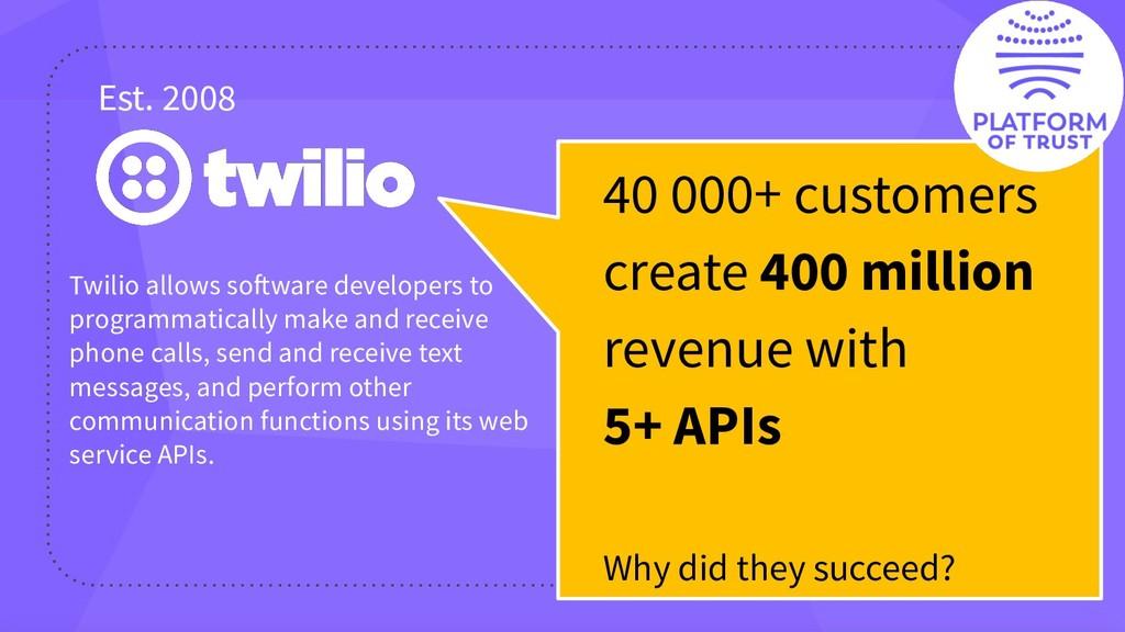 40 000+ customers create 400 million revenue wi...