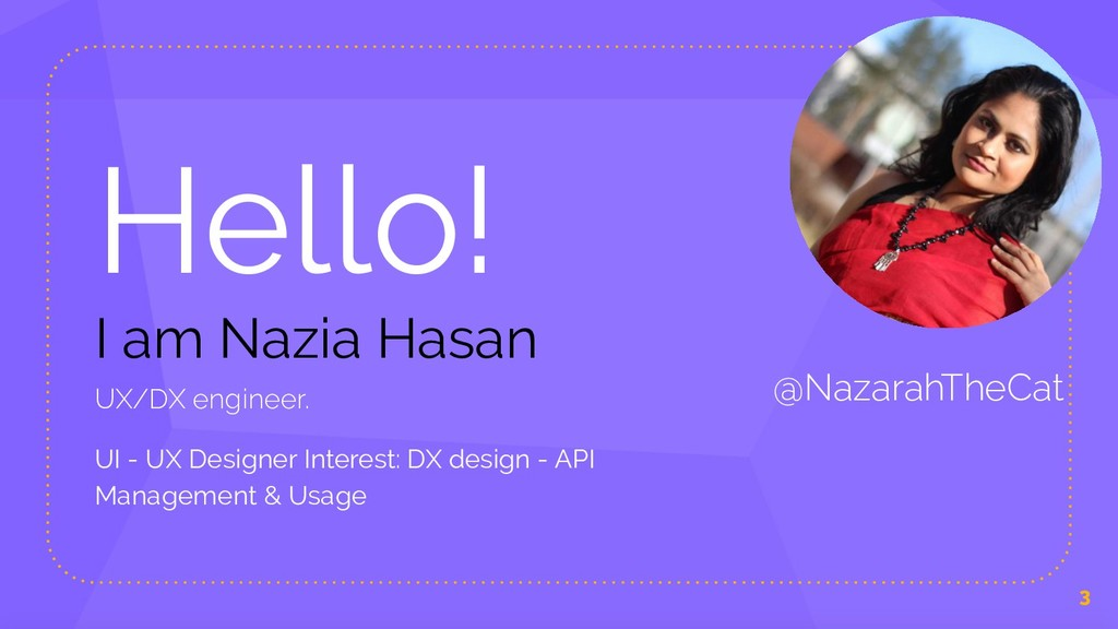 Hello! I am Nazia Hasan UX/DX engineer. UI - UX...