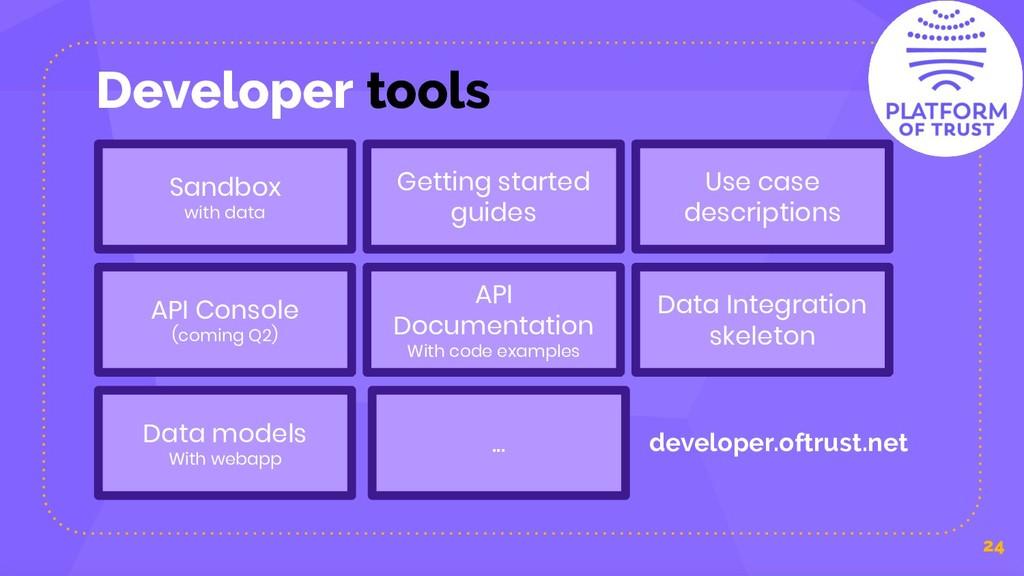 Developer tools 24 Sandbox with data Getting st...