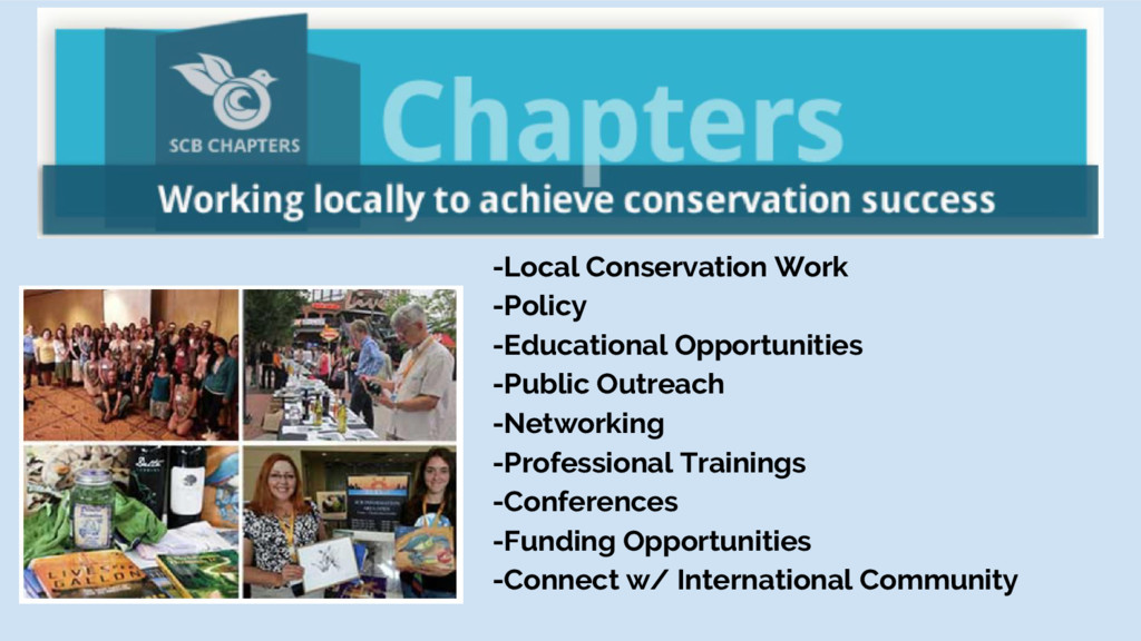 -Local Conservation Work -Policy -Educational O...