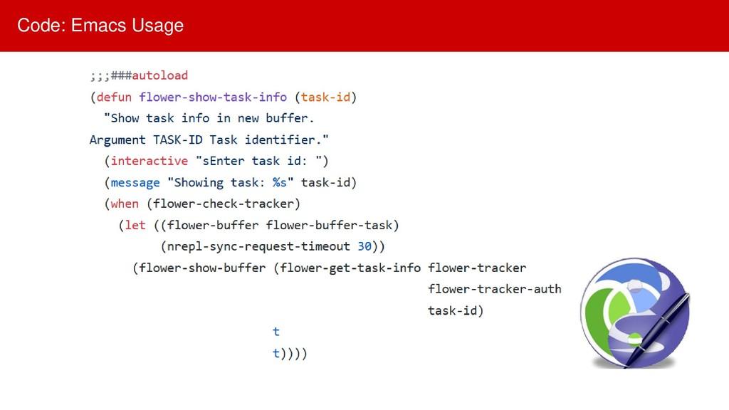 Code: Emacs Usage