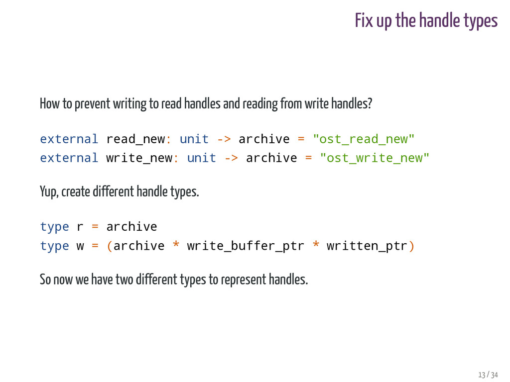 Fix up the handle types How to prevent writing ...