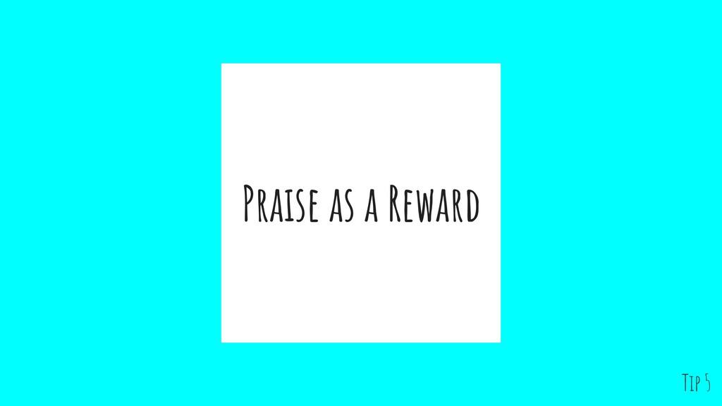 Praise as a Reward Tip 5