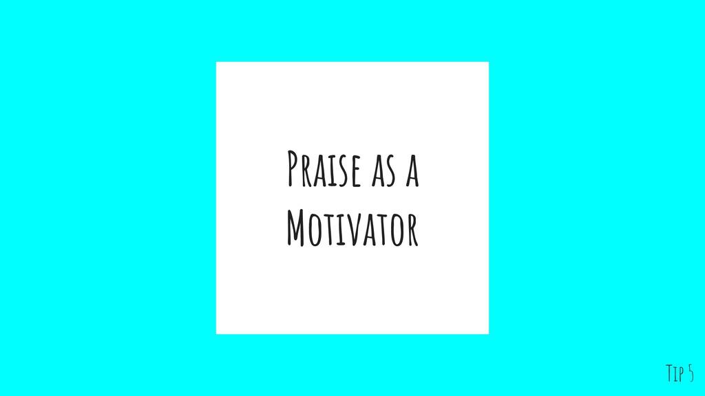 Praise as a Motivator Tip 5