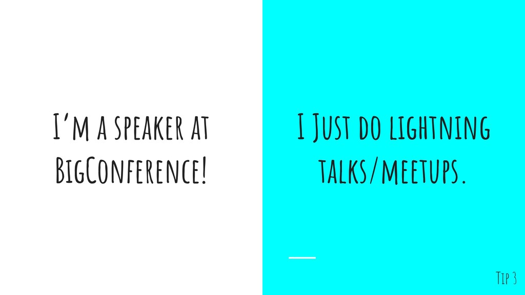I'm a speaker at BigConference! I Just do light...