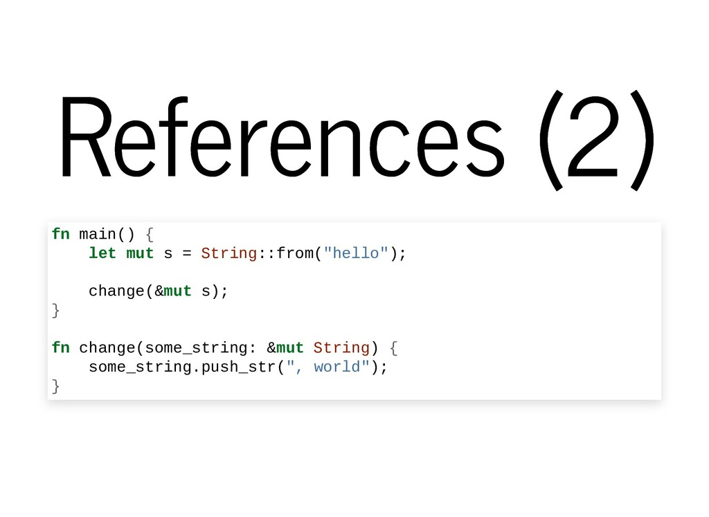 References (2) References (2) fn main() { let m...