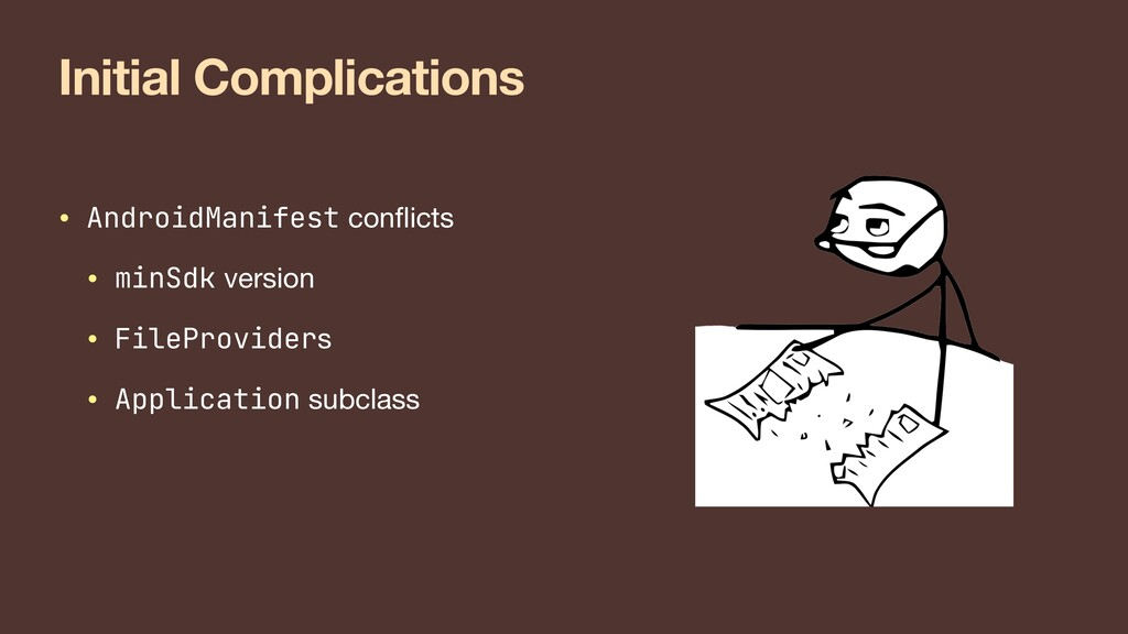 Initial Complications • AndroidManifest con f l...