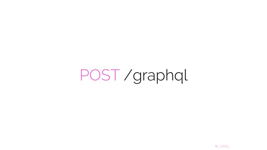 @__xuorig__ POST /graphql