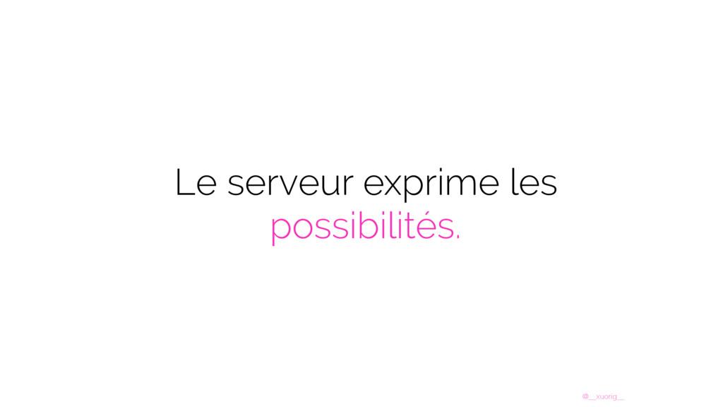 @__xuorig__ Le serveur exprime les possibilités.