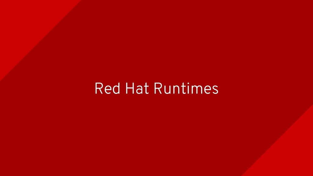 Red Hat Runtimes