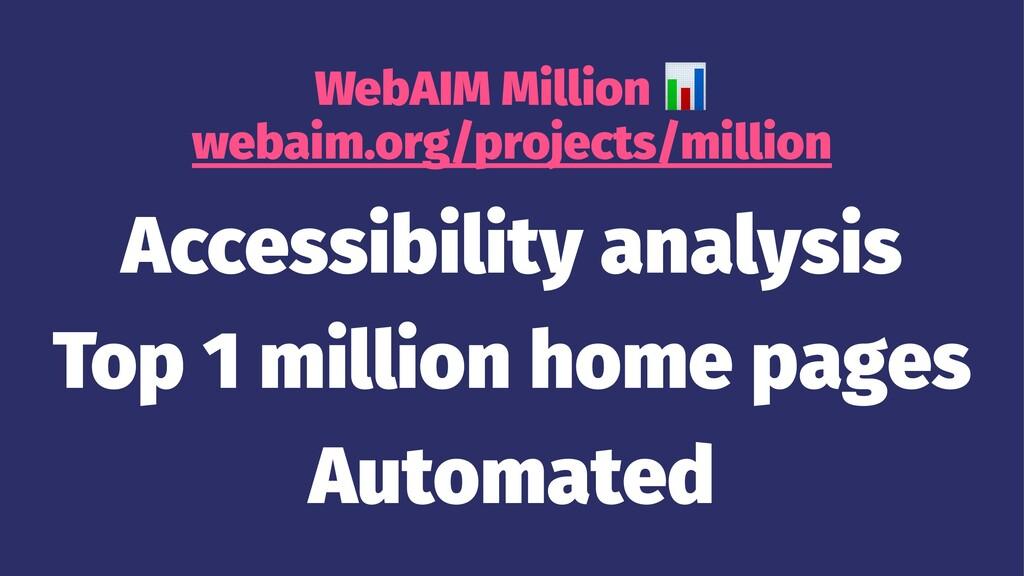WebAIM Million webaim.org/projects/million Acce...