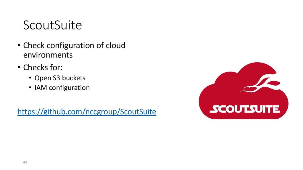 ScoutSuite • Check configuration of cloud envir...