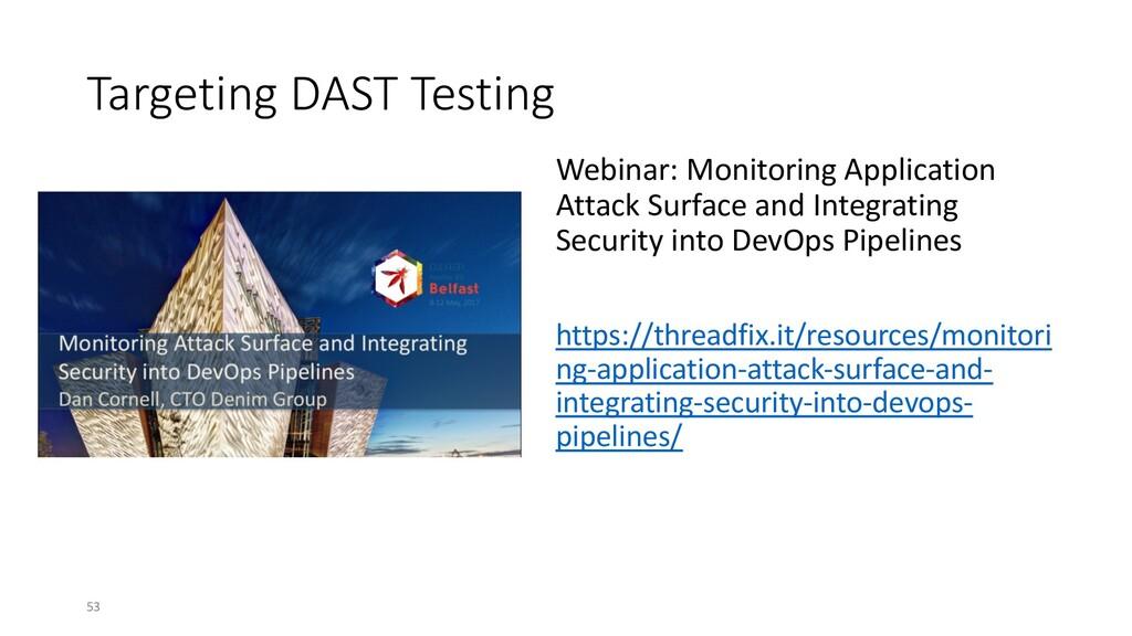 Targeting DAST Testing Webinar: Monitoring Appl...
