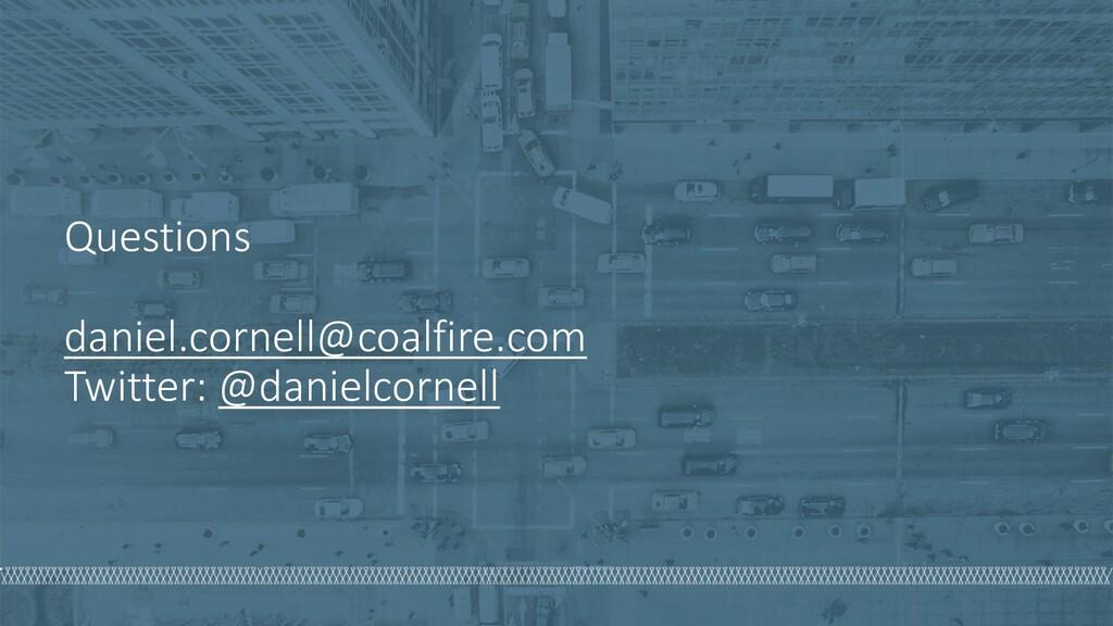 Questions daniel.cornell@coalfire.com Twitter: ...