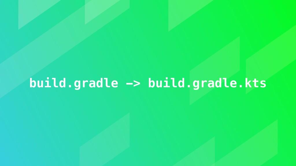 build.gradle -> build.gradle.kts