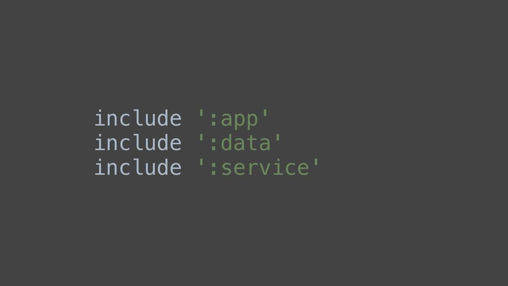 include ':app' include ':data' include ':servic...