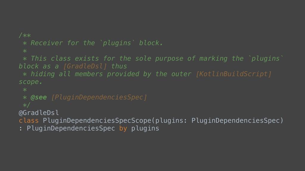 /** * Receiver forathe `plugins`ablock. * * Thi...