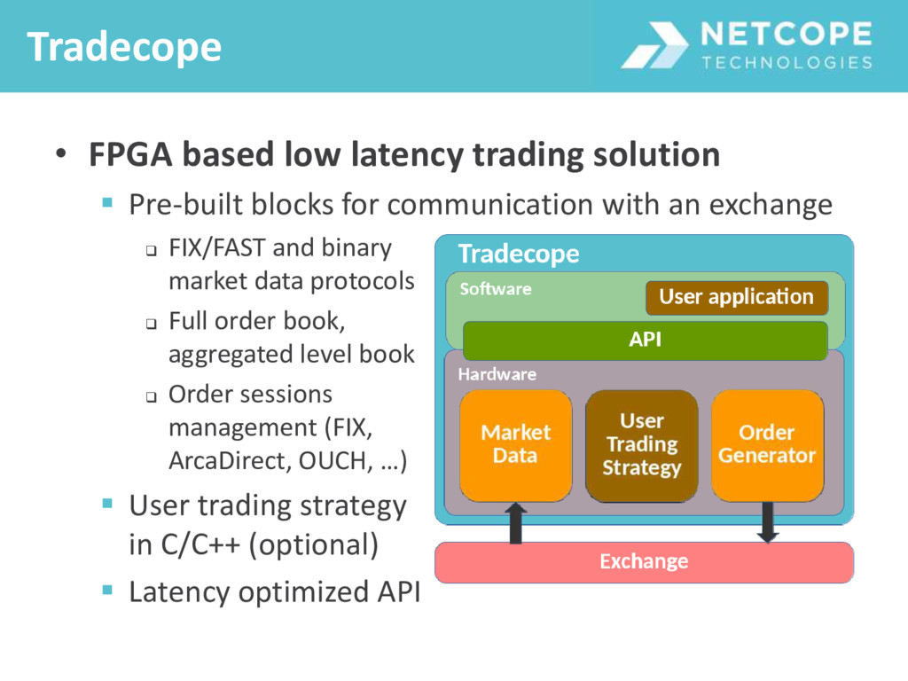 • FPGA based low latency trading solution  Pre...