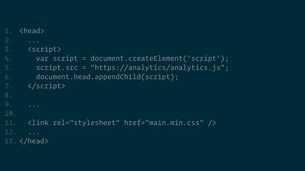 1. <head>   2. ...   3. <script>   4. var scrip...
