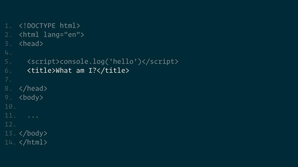 "1. <!DOCTYPE html>   2. <html lang=""en"">   3. <..."