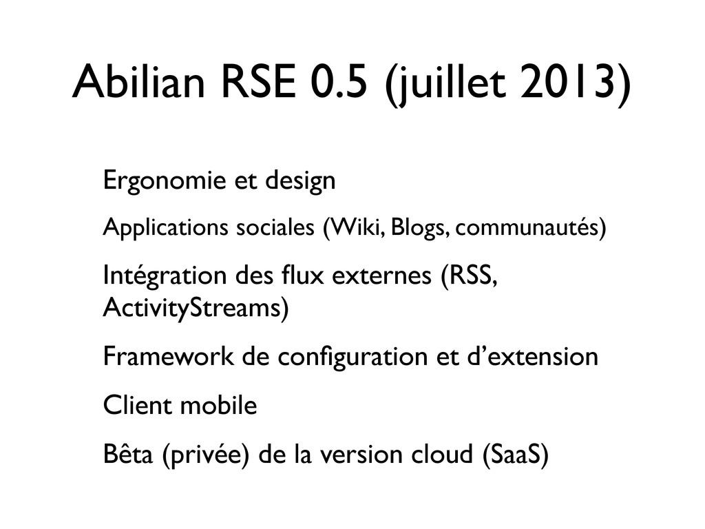 Abilian RSE 0.5 (juillet 2013) Ergonomie et des...