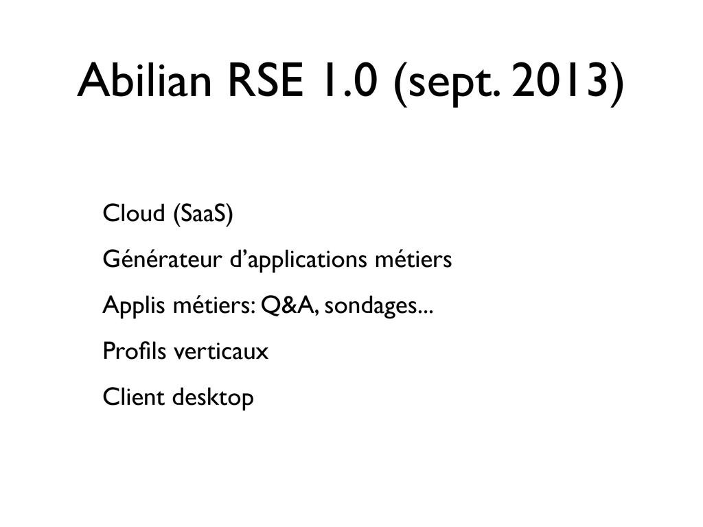 Abilian RSE 1.0 (sept. 2013) Cloud (SaaS) Génér...