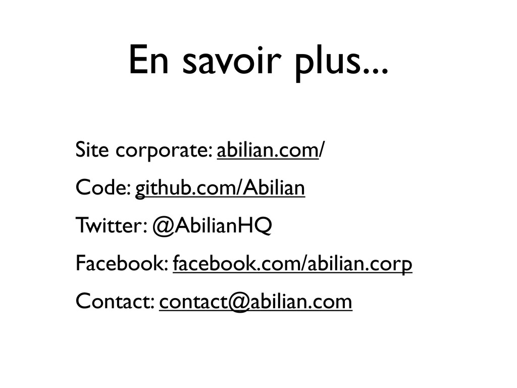 En savoir plus... Site corporate: abilian.com/ ...