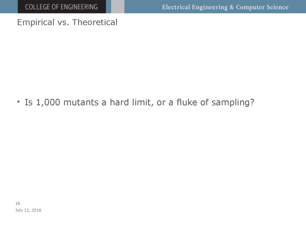 Empirical vs. Theoretical