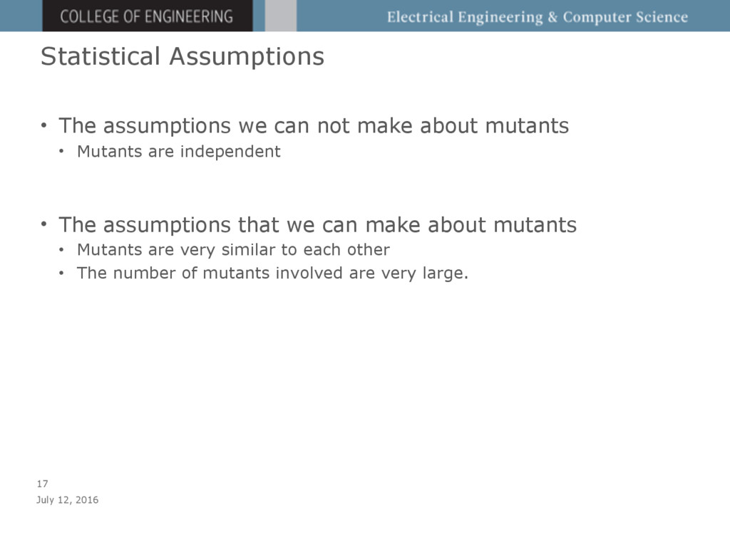 Statistical Assumptions • The assumptions we ca...