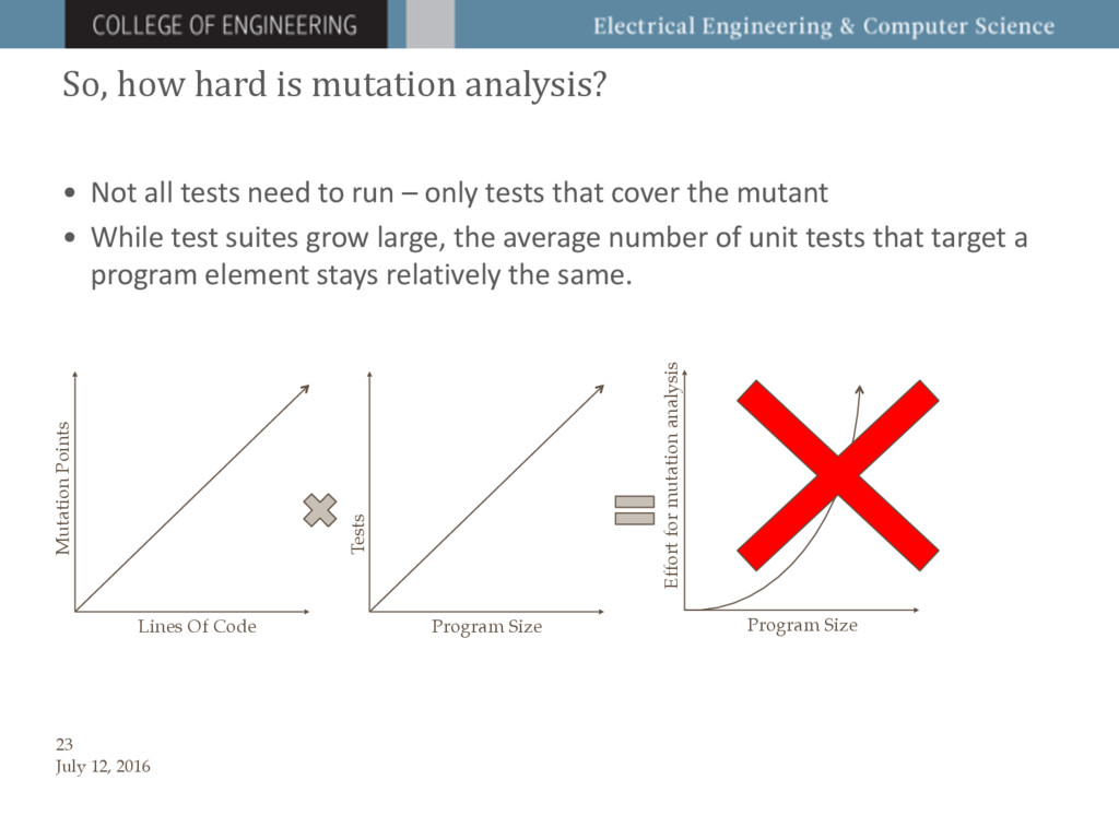 So, how hard is mutation analysis? • Not all te...