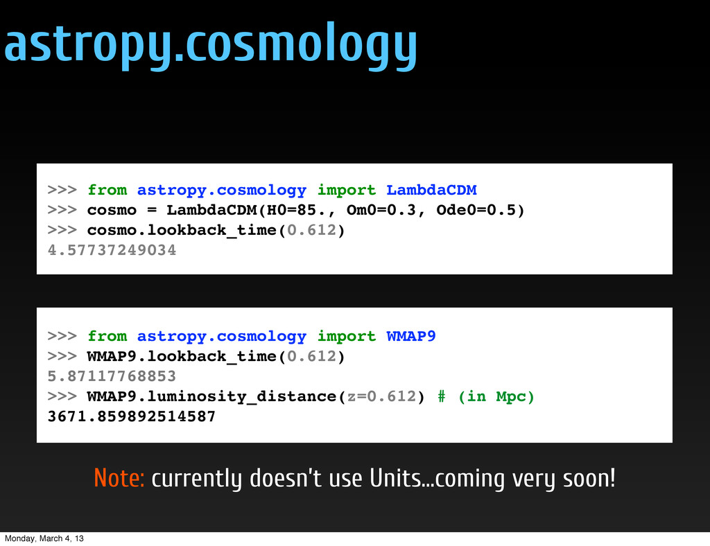 astropy.cosmology >>> from astropy.cosmology im...