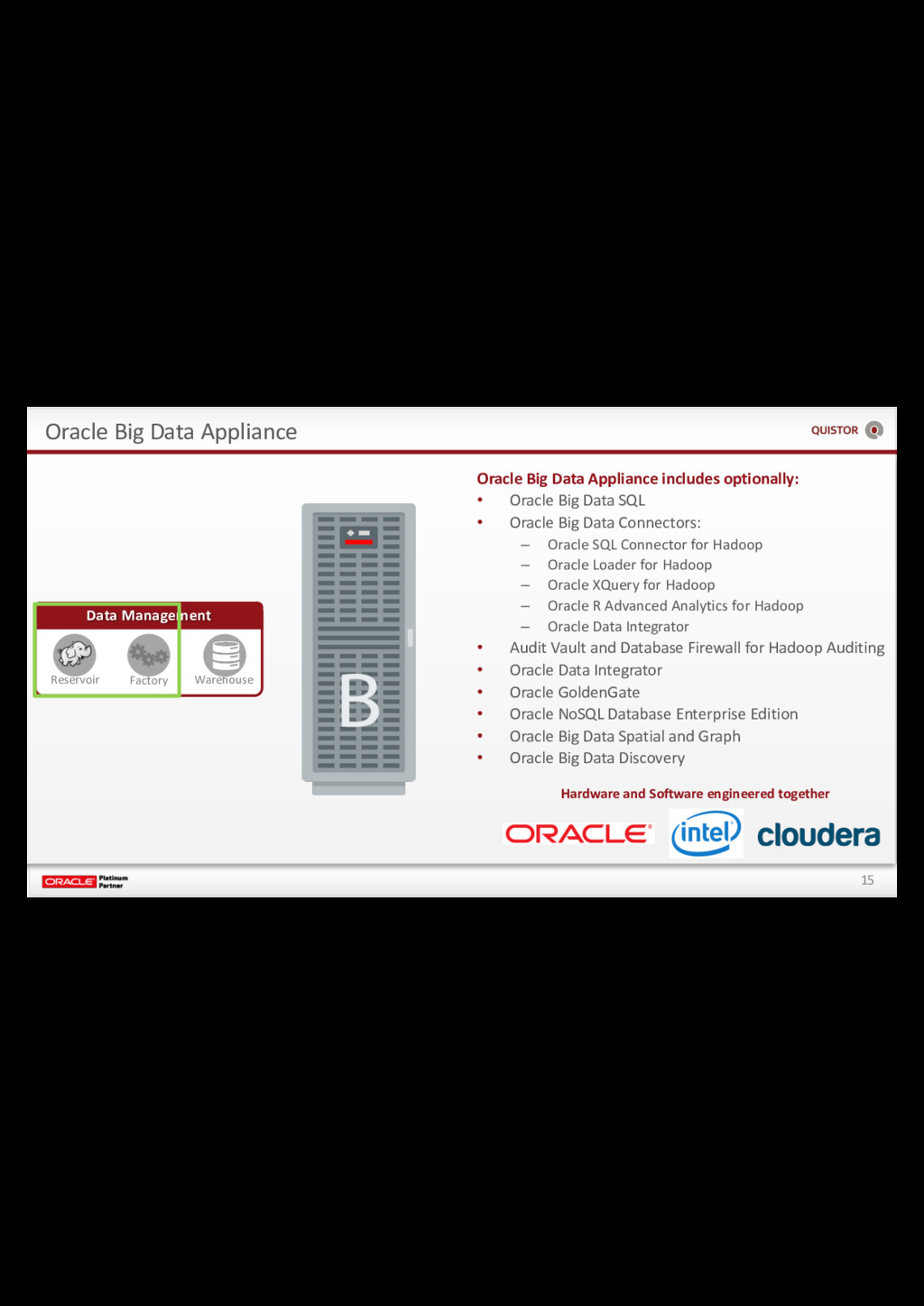 15 Oracle Big Data Appliance Data Management Re...