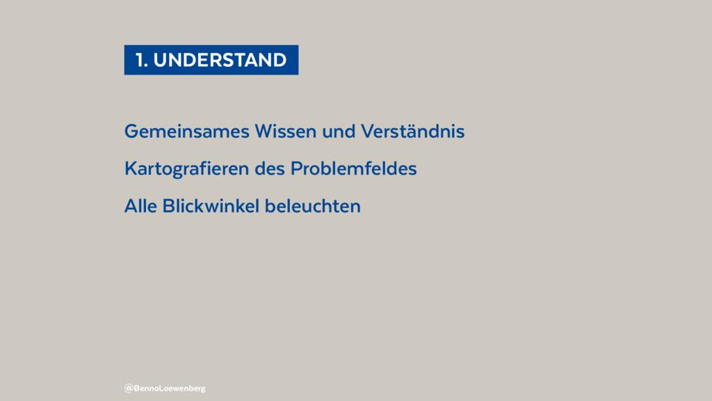 1. UNDERSTAND Gemeinsames Wissen und Verstän...