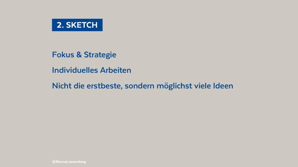 Fokus & Strategie Individuelles Arbeiten Nicht ...