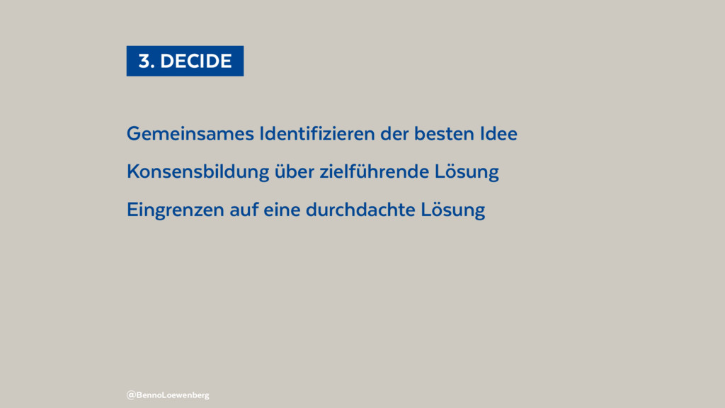 Gemeinsames Identifizieren der besten Idee Kons...