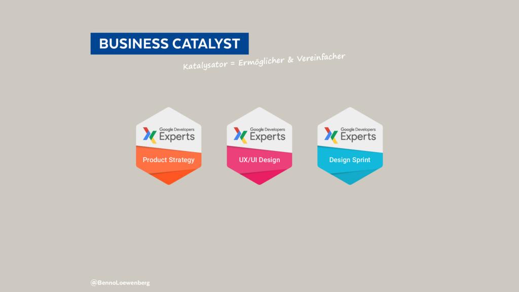 BUSINESS CATALYST Katalysator = Ermöglicher ...