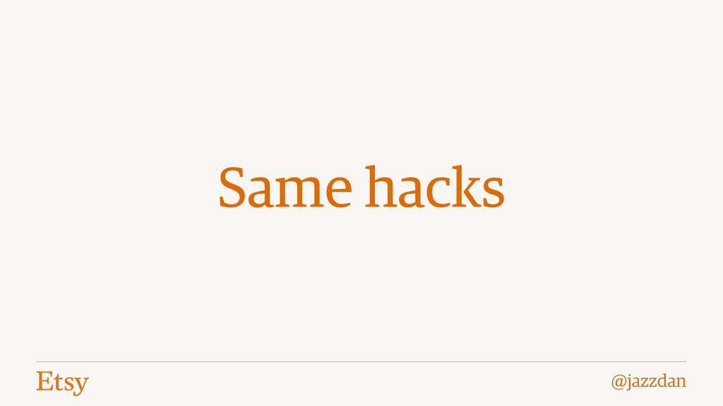 @jazzdan Same hacks