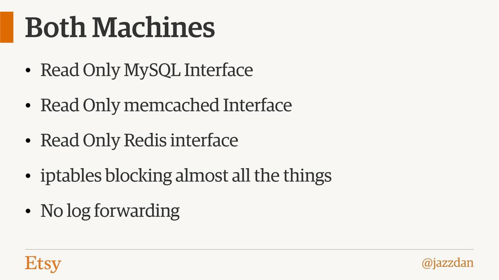 @jazzdan Both Machines • Read Only MySQL Interf...