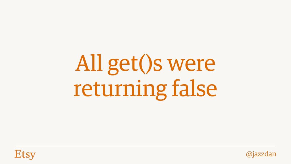 @jazzdan All get()s were returning false
