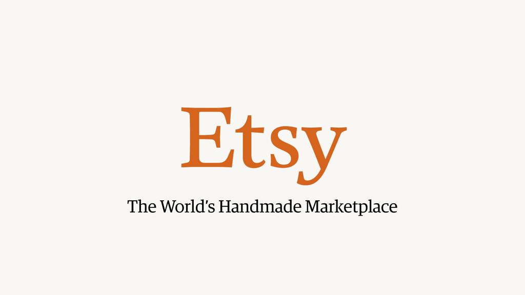 The World's Handmade Marketplace