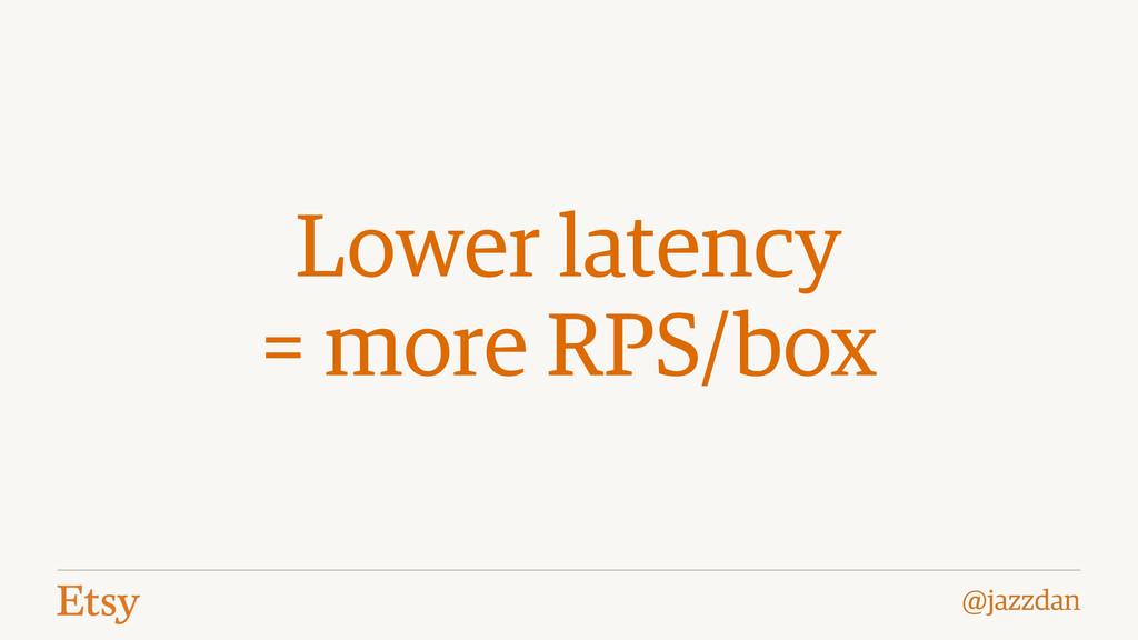 @jazzdan Lower latency = more RPS/box
