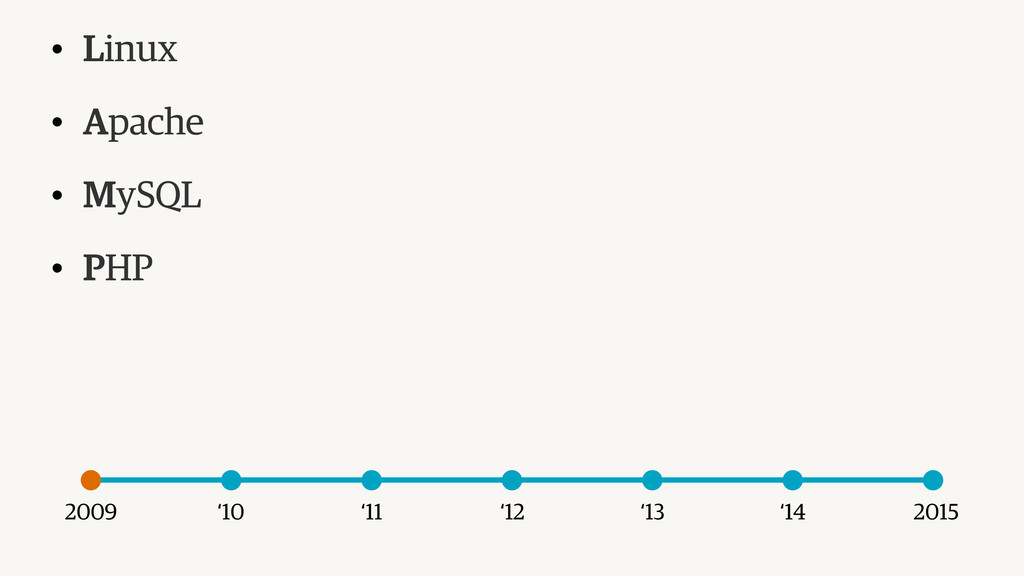 2009 2015 '14 '13 '12 '11 '10 • Linux • Apache ...